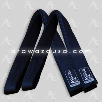 Arawaza Black Belts Pure Silk