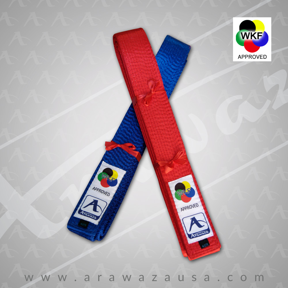 Arawaza WKF Approved Satin Kata Belts