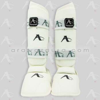 Arawaza P.U. white Shin pad & Removable instep pad
