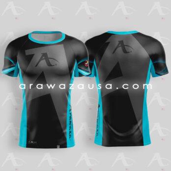 Arawaza Sports T-Shirt Black & Blue